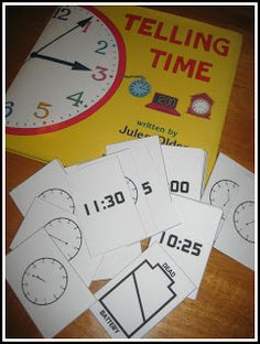 Relentlessly Fun, Deceptively Educational: Telling Time Printable Card Game