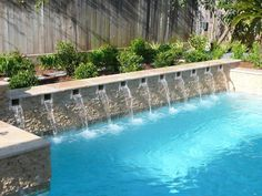 Pool water features pool fountain and pool designs for Pool design houston tx