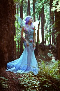 https://flic.kr/p/uvhphJ | Vanessa Tropic Blue Fairy 2 | Model: Vanessa Walton Costuming: Vanessa Walton Wings: FancyFairy.com Photographer: CassieFuertez.com
