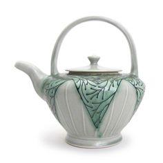 Lana Heckendorn   Teapot XL- blue green - The Clay Studio