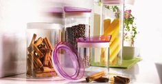 Bormioli Soffio üveg tárolóedények többféle színben és méretben.
