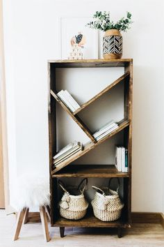 Cool alternative to the traditional book case