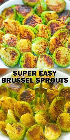 Easy Brussel Sprouts COOKTORIA {Tania Sheff} cooktoria COOKTORIA'S VIDEO RECIPES This is my go-to recipe for brussel sprouts. It is super easy to make and ridiculously tasty! These Pan Fried Brussel Sprouts require just a few common ingredients, and Sprout Recipes, Veggie Recipes, Vegetarian Recipes, Dinner Recipes, Cooking Recipes, Healthy Recipes, Vegan Vegetarian, Vegan Ramen, Healthy School Lunches