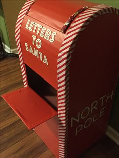 """Cardboard """"Letters to Santa"""" Mailbox"""