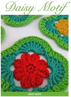 Daisy Motif #crochet