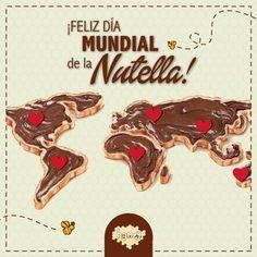 """""""Sabían que se vende un tarro de Nutella♥ cada 2,5 segundos en todo el mundo......"""