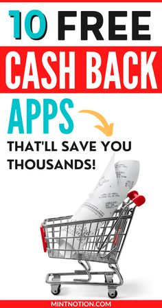 Best cash back apps to save money when shopping. These apps will pay you cash to shop. They are free to use and you can make money with no effort.