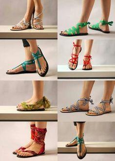 Flip flops & ribbon