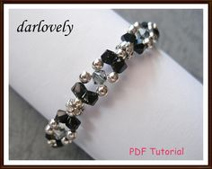 Special! Elegant ... by darlovely | Jewelry Pattern - Looking for your next project? You're going to love Special! Elegant Black Silvery Bracelet by designer darlovely. - via @Craftsy