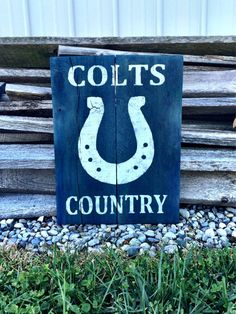 Indianapolis Colts Sign Colts Decor Colts by CharmingWillows