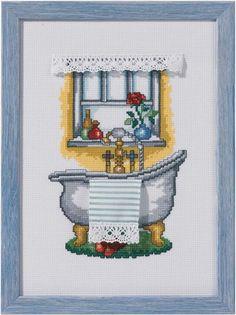Permin of Copenhagen Counted Cross Stitch Kit BATH Sale # 92-1155