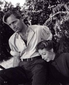 William Holden  and Loretta young in RACHEL AND THE STRANGER (1948).  I like this forgotten little movie, which also stars Robert Mitchum