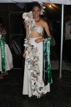 A tapa couture piece worn by Miss Fiji Fashion Week, Anne Young during the Vodafone Fiji Hibiscus Festival/ Miss Hibiscus Pageant 2014