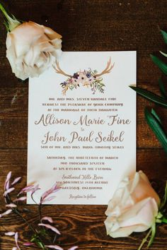 We love these creative and rustic invitations by Paper+More! #bridesofok #oklahomawedding #weddinginvitations Photography: Sarah Libby Photography | Rustic Oklahoma Wedding at Southwind Hills Barn | Allison + John