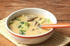 Homemade Cheddar and Mushroom Soup – Everyday Food with Sarah Carey Dinner Soup – Dinner Recipes Dutch Recipes, Soup Recipes, Cooking Recipes, Broccoli Cheese Soup, Broccoli Cheddar, Fresh Broccoli, Mushroom Soup, Mushroom Recipes, Everyday Food