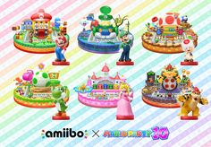 Mario Party 10 amiibo figures