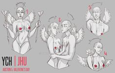 [CLOSED] 5 YCH (Valentine's day)auction   JHU by JHUffizi