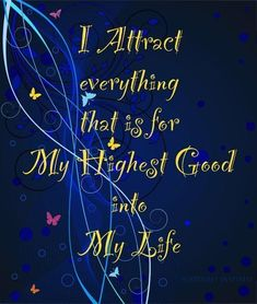 ∆ The Law of Attraction...