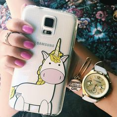 Because I'm a girl bracelet with unicorn phone case to a magical day :) #Milkywaycases #phonecase #iphone