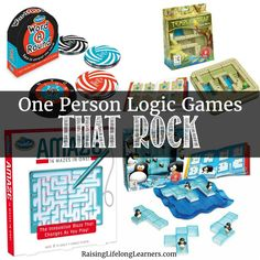 Learning Through Play with One Person Logic Games that Rock