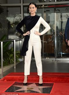 Knockout:Katy Perry looked stunning as she was seen representing Capitol Records with Steve Barnett, Chairman & Chief Operating Officer, after they received a star on the Hollywood Walk Of Fame on Tuesday
