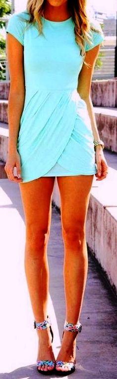 MODE THE WORLD: Adorable Mint Summer Dress