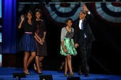Obama & Family after the Win!