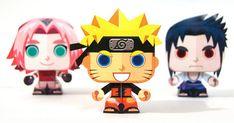 Naruto mini papertoy