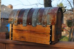 Handmade Decorative Mailbox With Galvanized Metal Parts Rusted To A Perfect…