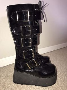 0151c9ca698 Demonia by Pleaser Trashville-518 Mens Platform Boots Size 8 (womens)   fashion