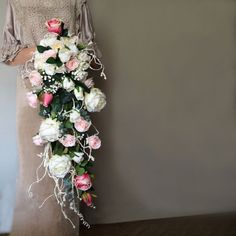 Cascading bouquet artificial flowers by WeddingDesignForYou