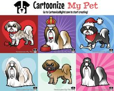 Create your own Shih Tzu http://www.cartoonizemypet.com/builder/?view=shape&animal=dogs&pet=shih-tzu