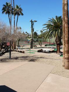 Miniature Golf and Tennis Courts ay on of Sun City AZ Recreation Centers Sun City Az, Miniature Golf, Down South, Arizona, Tennis, Sidewalk, Places, Live, Side Walkway
