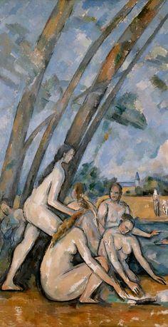 Large Bathers detail, 1900-1906 Paul Cézanne