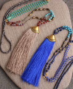 A personal favorite from my Etsy shop https://www.etsy.com/listing/266862436/indie-tassel-necklace-in-wheat