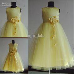 7b8b1537e 96 Best Yellow Flower Girl Dresses images