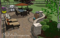 Relaxing Backyard Patio | Patio Designs and Ideas