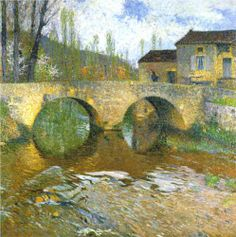 Henri-Jean Guillaume Martin (1860-1943) The Green Bridge