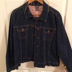 Kate Landry Denim Jacket Kate Landry Denim Jean Jacket. Never worn with the tags. Very nice color. $25 Firm Kate Landry Jackets & Coats Jean Jackets