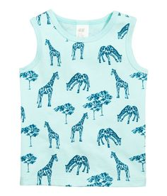 Check this out! Tank top in soft cotton jersey with a printed design. - Visit hm.com to see more.