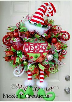 Christmas Wreath Burlap Wreath Holiday Wreath by NicoleDCreations wreaths Christmas Wreath- Gingerbread Man Wreath- Holiday Wreath- Deco Mesh Wreath- Front Door Wreath- Character Wreath Wreath Crafts, Christmas Projects, Holiday Crafts, Wreath Burlap, Door Wreath, Wreath Ideas, Christmas Ideas, Christmas Mesh Wreaths, Noel Christmas