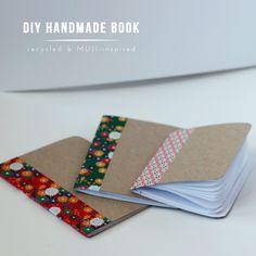 DW draws: DIY HANDMADE NOTEBOOK // recycled & muji-inspired