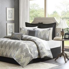 Madison Park Regis 12-Piece Bed in a Bag Jacquard Comforter Set - Overstock™ Shopping - Great Deals on Madison Park Bed-in-a-Bag