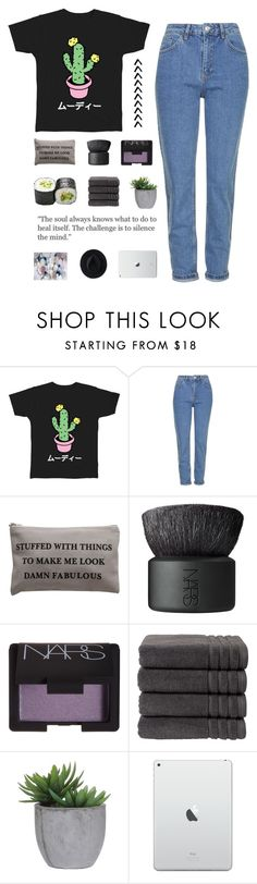 """haaaaaaack!!!"" by elderflowers ❤ liked on Polyvore featuring Topshop, NARS Cosmetics, Christy, Lux-Art Silks and Ryan Roche"