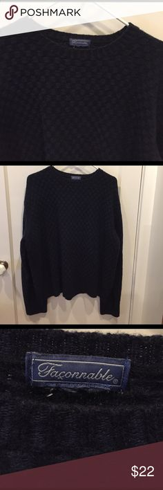 Men's Faconnable Navy Sweater No label. Measures 24 inches across the chest. BN106 Faconnable Sweaters Crewneck