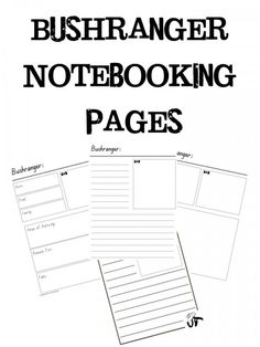 Bushranger Notebooking Pages