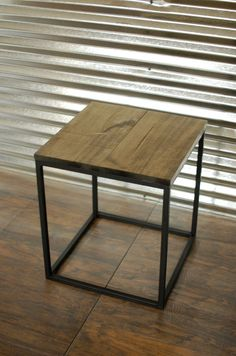 Wood End Table, Rustic Nightstand, Wood Table, Small Wood Table, Metal End Tables, Nightstand Table, Accent Table - FREE Shipping