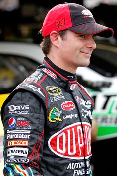 "Oh, how I love this man. :-)....in a purely ""he's my favorite NASCAR driver"" sort of way :-)"