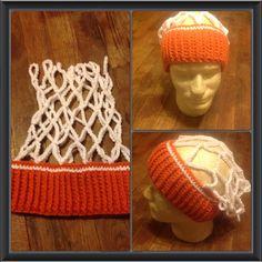 Crochet Basketball Net Hat/ Ear Warmer- FREE SHIPPING on Etsy, $25.00