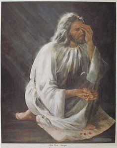 This is a stunning image of Jesus in sorrow as he holds an aborted fetus. It is titled His Image and the original was painted by Beth Sweigard. In the background there is a front page of a newspaper headline about how many millions of abortions preformed each year. However, Jesus' torso is covering the actual number, signifying that despite our estimates, only our Lord knows exactly how many such deaths occur each year.